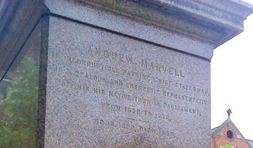 Andrew Marvell Statue, Hull.