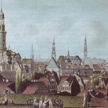 """Johann Marcus David, """"Prospekt der Kaiserlich Französischen Stadt Hamburg"""", 1811"""