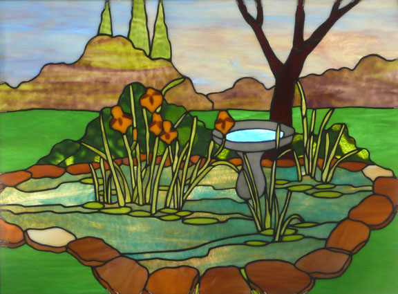 Stained Glass Landscape (Vinery Glass Studio)