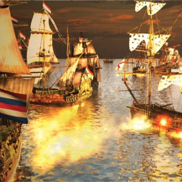 Anglo-Dutch War - naval forces clash