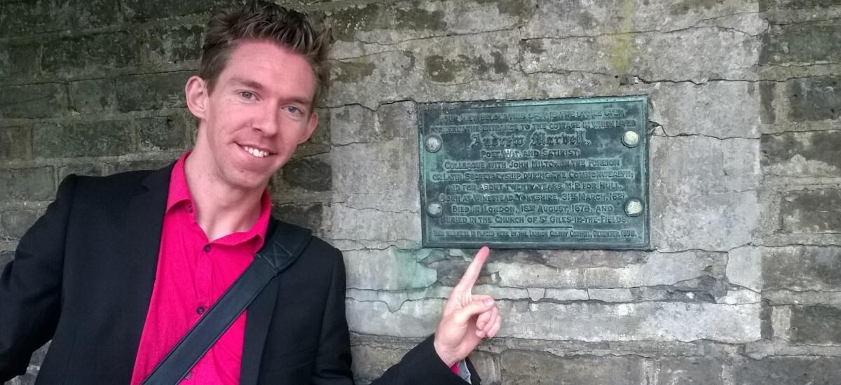 Andrew Marvell Plaque, Waterlow Park