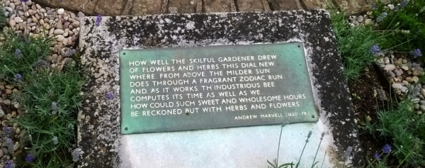 Andrew Marvell Plaque of 'The Garden' by Lauderdale House