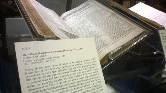 Shakespeare 400 First Folio, Senate House Library