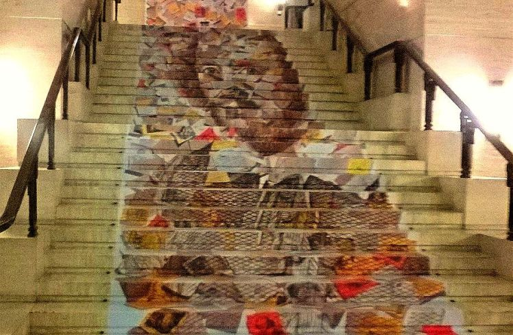 Shakespeare 400 Mural at Senate House, London