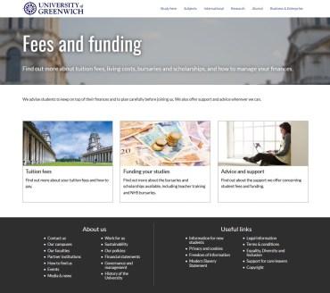 Finance Home, University of Greenwich, New