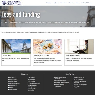 Finance Home, University of Greenwich, New