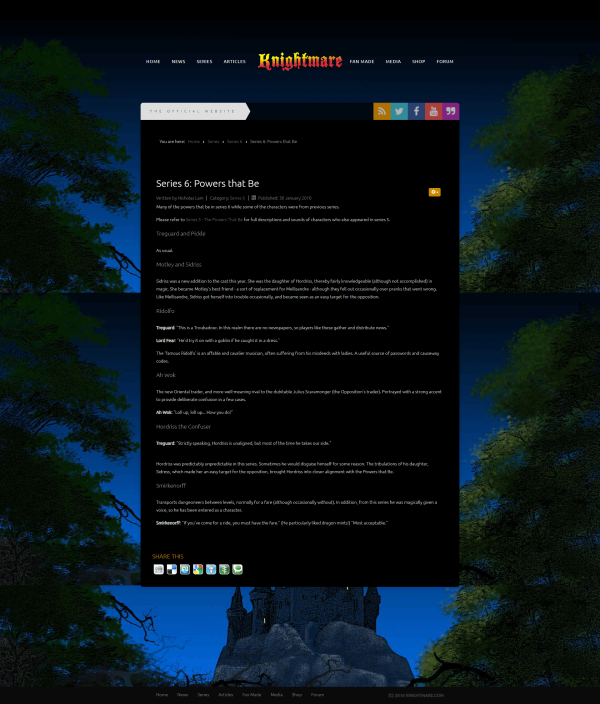 Old directory style pages for the previous Knightmare.com (2009-2020)