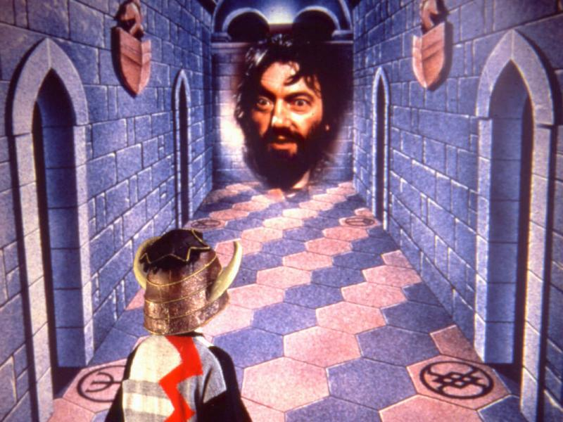 Promotional image for Knightmare (1987-1994), featuring Hugo Myatt